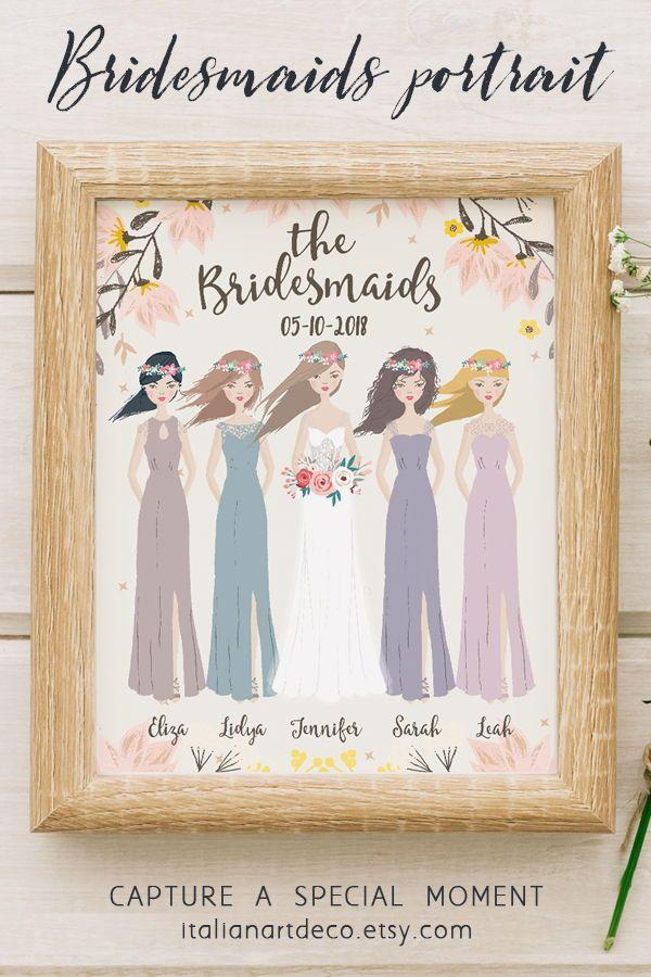Personalised Bridesmaid Print// Bride Tribe Print// Thank you Bridesmaid  Hen Do