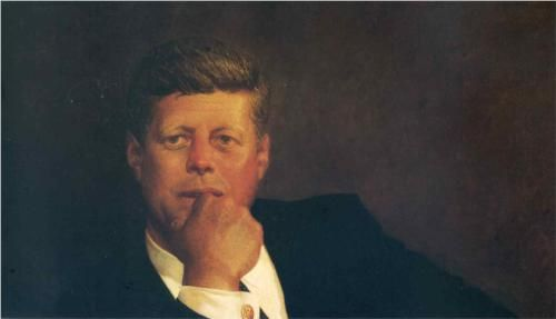 John F. Kennedy by Jamie Wyeth, 1967, son of Henriette and Peter Hurd