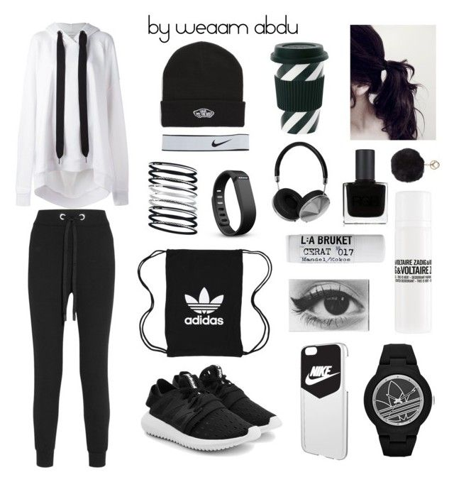 """comfy."" by weaam-abdu on Polyvore featuring Marques'Almeida, No Ka'Oi, adidas Originals, NIKE, Fitbit, Vans, adidas, L:A Bruket, Zadig & Voltaire and RGB Cosmetics"
