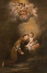 Oración a San Antonio de Padua: San Antonio de Padua con el Niño de Bartolomé Esteban Murillo