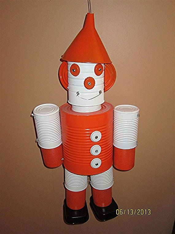 31 best tin cans crafts for kids images on pinterest tin for Tin can tin man craft
