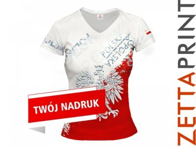 POLSKA Koszulka Damska Kibicki Fanki ZTT_DS0101