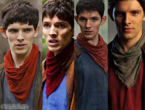 Season 1 Merlin, season 2 Merlin, .... you get the idea, all the way to Season 4. <3 I've loved him since the first episode!!