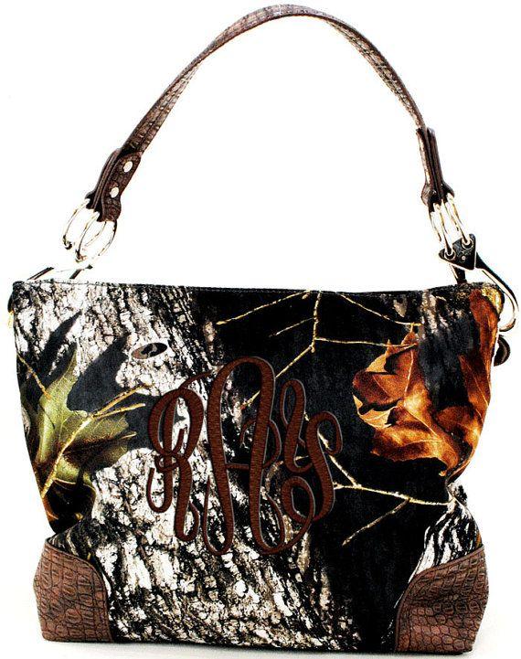 Hey, I found this really awesome Etsy listing at https://www.etsy.com/listing/217155233/monogrammed-mossy-oak-camo-purse-handbag