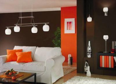 Dormitorio color naranja y marr n dormitorios - Habitaciones color naranja ...