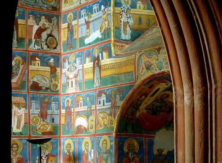 "https://flic.kr/p/bVNL7r | Murals of the lives of saints at Voronet monastery (Bucovina, Romania) |  Voroneț is a monastery in Romania, located in the town of Gura Humorului, Moldavia. It is one of the famous painted monasteries from southern Bukovina, in Suceava County. Between May and September 1488, Stephen III of Moldavia (known as ""Stephen the Great"", in Romanian Ștefan cel Mare) built the Voroneț Monastery (in Romanian Mănăstirea Voroneț) to commemorate the victory at Battle of V"