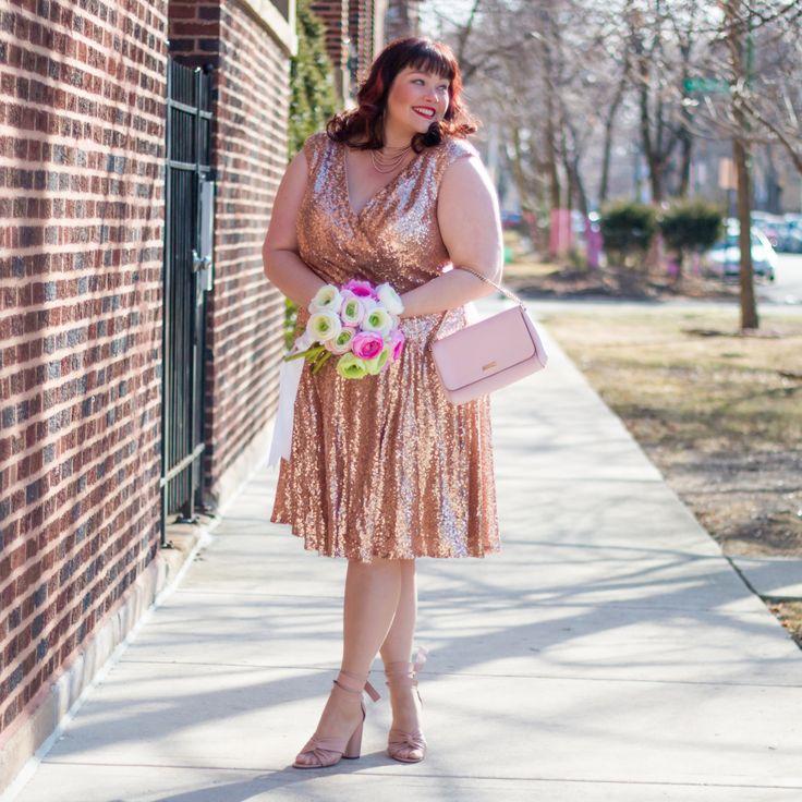 Pixie Dust Party Dress Rose Gold Sequin Dress Size 16