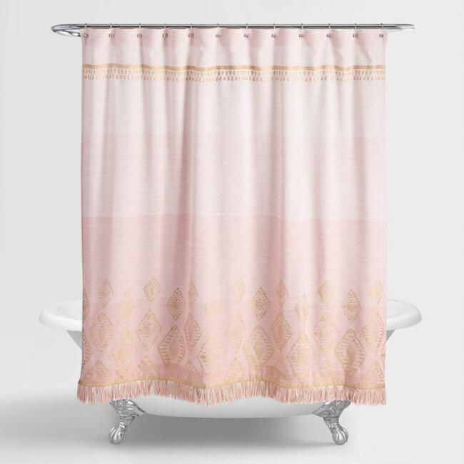 Terracotta And Gold Ombre Shower Curtain World Market Ombre