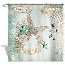 Summer Sea Treasures Beach Shower Curtain for