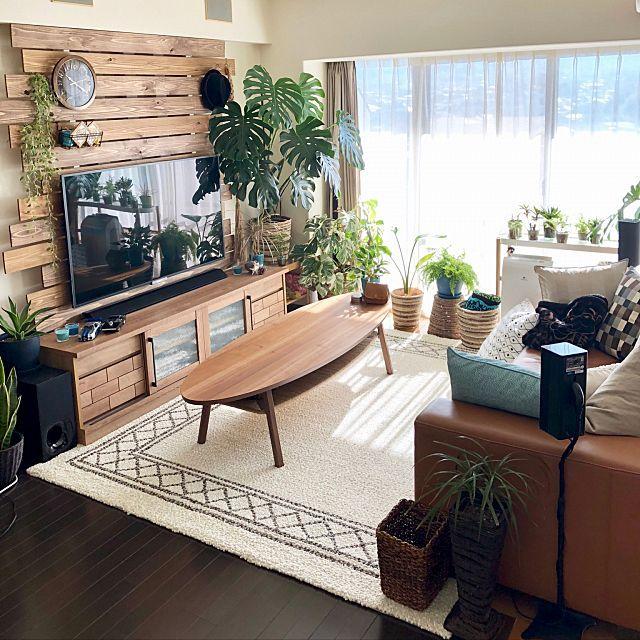 リビング ソファ いなざうるす屋さん 壁掛けテレビ 壁掛け時計 などのインテリア実例 2017 11 13 10 23 49 Roomclip ルームクリップ インテリア リビング 自宅で