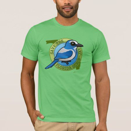 Save the Florida Scrub-Jay T-Shirt - click to get yours right now!