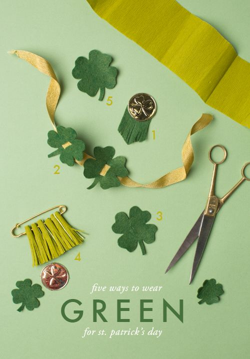 St. Patrick's day green ideas: some unique ways to work green into your outfit for St Pat's!