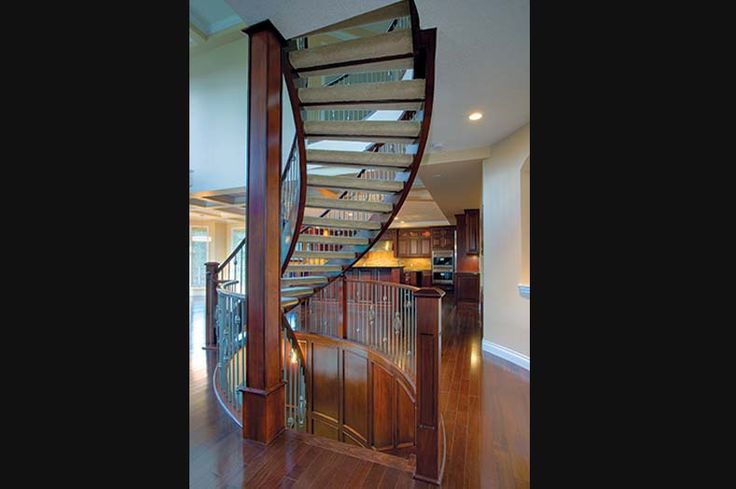 Best Open Riser Curved Staircase With Carpet By Shane Homes In 640 x 480