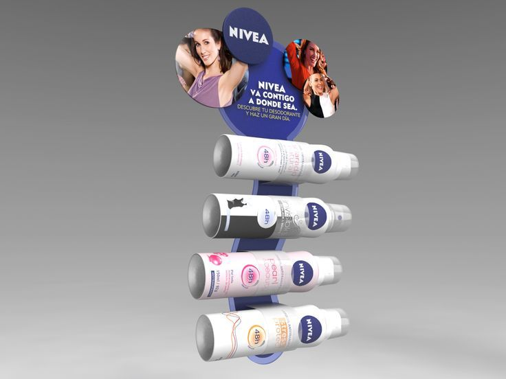 3D - Tira de Impulso Woman. Cliente: Nivea / Beiersdorf. Diseño: Jorge Moreno