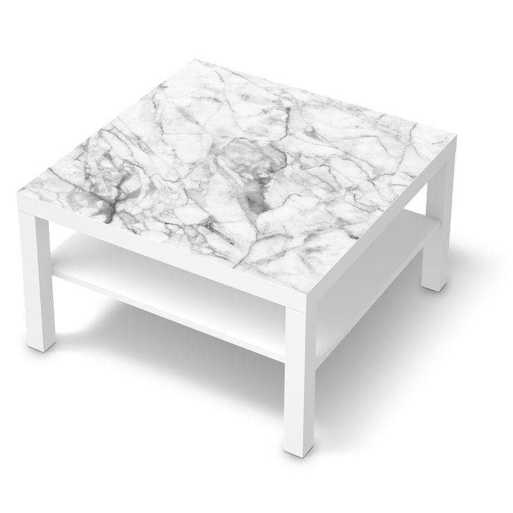 Möbelfolie Marmor weiß für Lack 78x78 cm
