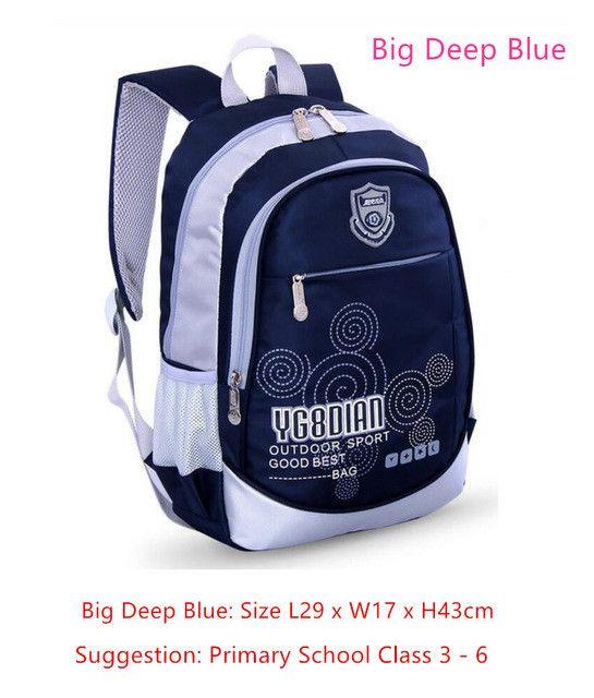 Sun Eight hot sale children pink bag girls school bags dark blue boys school backpack for kids student bag bookbag dropshipping