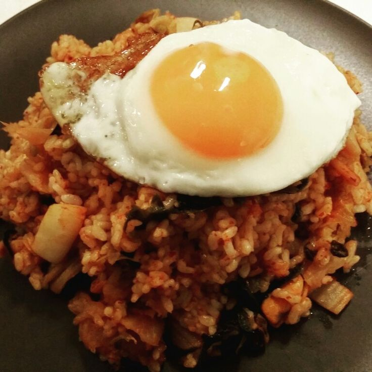Kimchi Fried Rice 김치 볶음밥  Rice = 밥 (bap)  www.mylanguageconnect.com