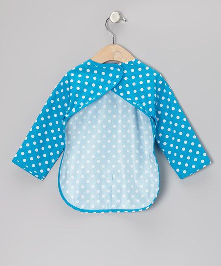 Blue Polka Dot Bib - Infant & Toddler