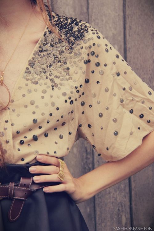 scattered sequins