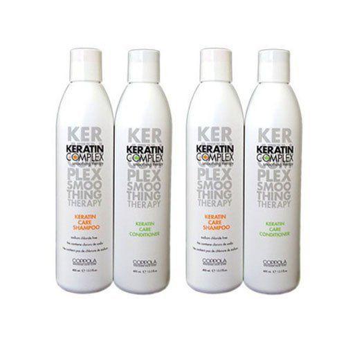 Keratin Complex_2 of Care Shampoo 13.5oz + 2 of Conditioner 13.5oz by Keratin Complex. $48.40. Keratin Complex Keratin Care Shampoo 13.5oz (Pack of 2). Keratin Complex Keratin Care Conditioner 13.5oz (Pack of 2). Keratin Complex Keratin Care Shampoo 13.5oz Keratin Complex Keratin Care Conditioner 13.5oz