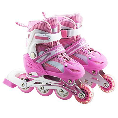 Packgout Girls Inline Skates Adjustable Rollerblades for kids with Illuminating #NotApplicable