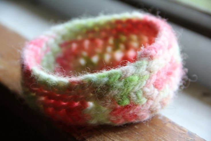 Felted Watermelon bowl