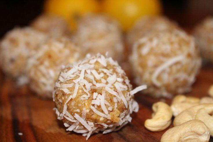 Cashew Nut, Lemon & Coconut Bliss Balls - gluten-free, sugar-free & dairy-free