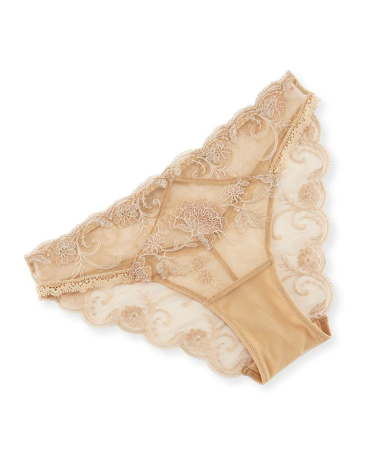Ultra Feminin Lace Bikini Briefs, Nude, Women's, Size: S - Lise Charmel