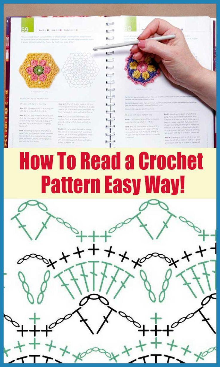 How to read a crochet pattern very easy way crochet