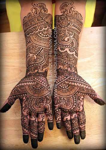 Sarah H's traditional bridal henna 2013 © NJ's Unique Henna Art - please like-repin-comment! <3 xo