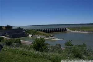Missouri River/Gavins Point Dam Yankton South Dakota