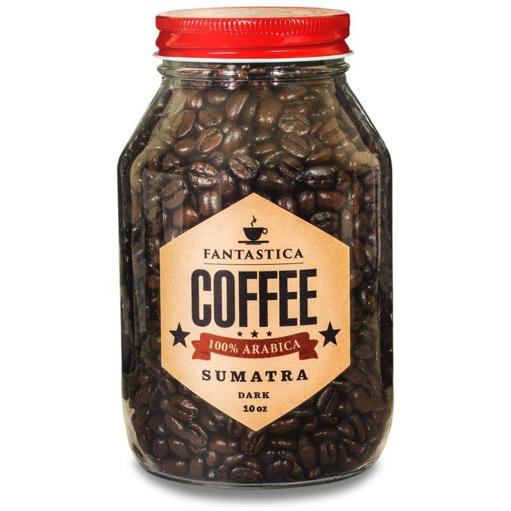Fresh Roasted Sumatra Coffee, Premium Beans, 100% Arabica, Dark Roast - Sweet Delicious Coffee Fantastica Coffee LLC