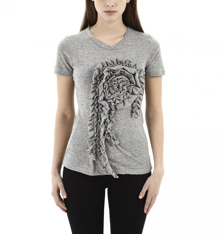 Grey Flower T-Shirt