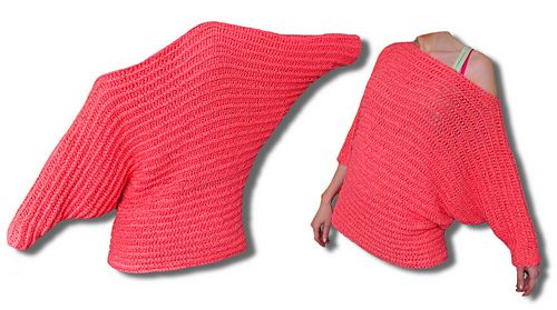 Ravelry: Valentine batwing sweater / Fledermaus Pullover pattern by Julia Marquardt