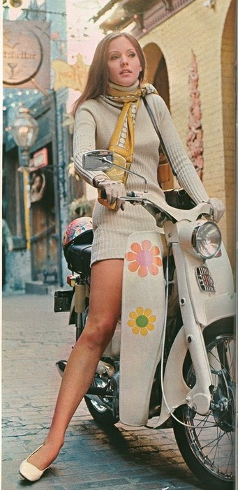 Great idea for a shoot with @Charles Ottolini's scarves. If only my scooter wasn't so colorful already!