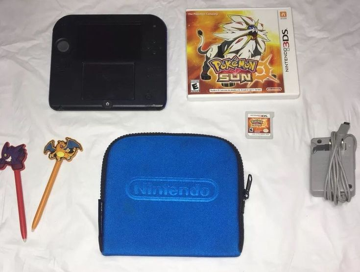 Nintendo 2DS Blue & Black Console with 3DS Pokemon Sun game Preowned  | eBay
