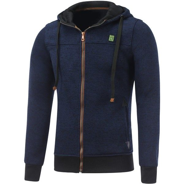 Hooded Cotton Blends Applique Zip Up Hoodie (44 BAM) ❤ liked on Polyvore featuring men's fashion, men's clothing, men's hoodies, mens sweatshirts and hoodies, mens hoodies and mens zip up hoodies