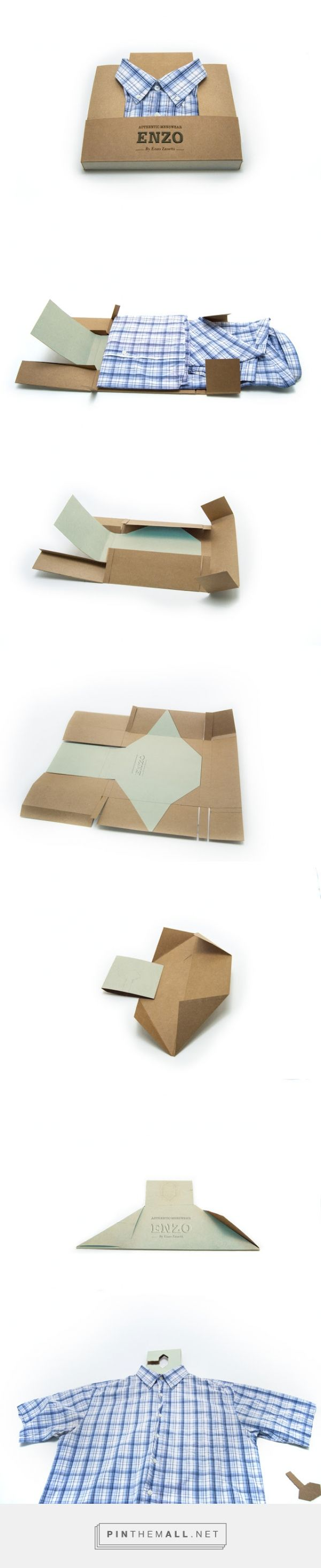ENZO #clothing - #Box to #Hanger #concept #packaging designed by Diana Castaneda - http://www.packagingoftheworld.com/2015/06/enzo-box-to-hanger-student-project.html