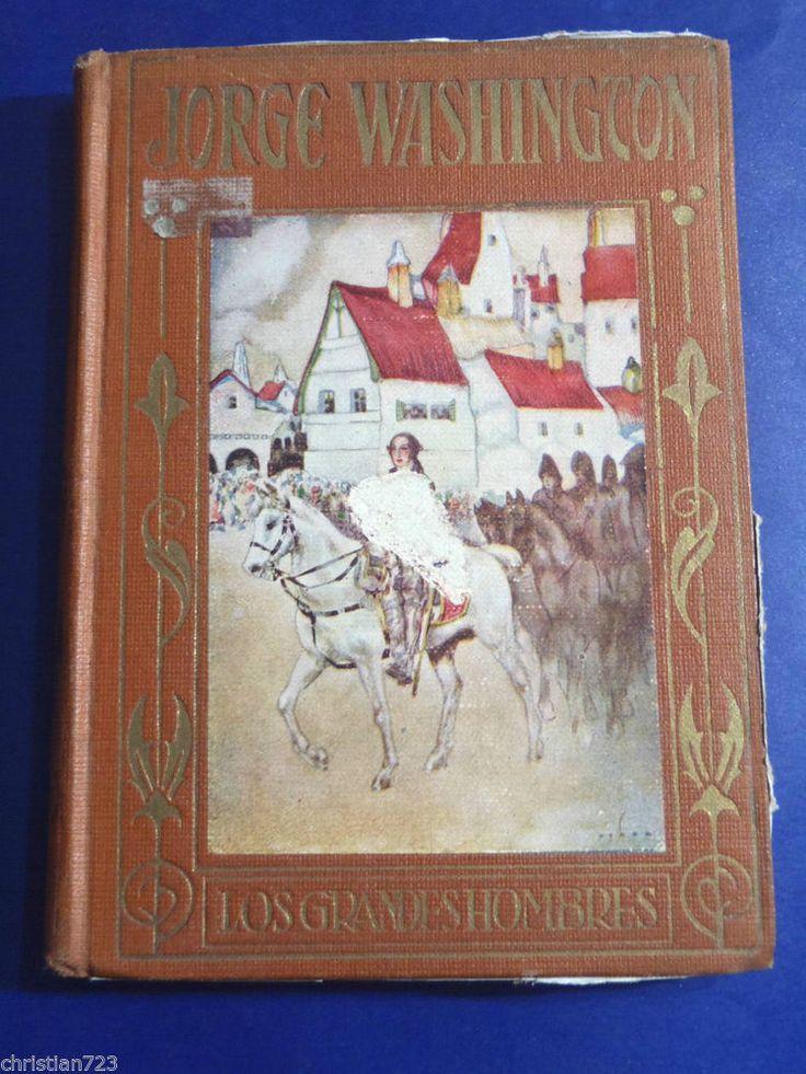 GEORGE WASHINGTON - BEAUTIFUL ILLUST BY OCHOA XRARE SPANISH ARALUCE ca 1935
