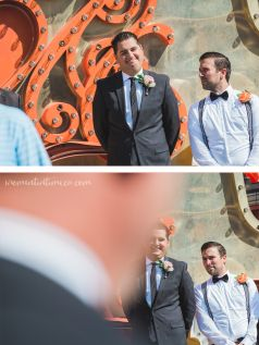 Neon Sign Museum Wedding - Las Vegas, Nevada Bride and Groom Photography / Best Man funny photo