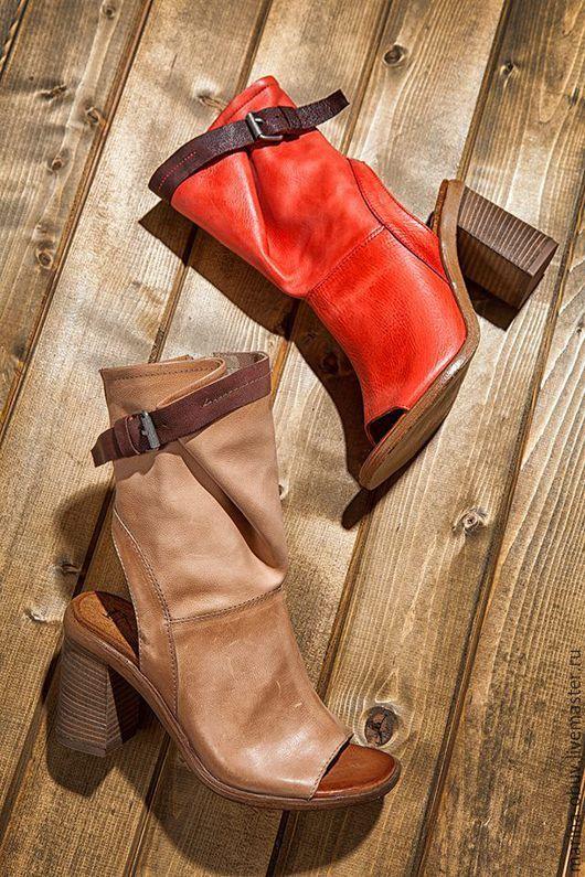 Обувь ручной работы. Ярмарка Мастеров - ручная работа. Купить Боссоножки кожаные тип полусапожки летние. Handmade.