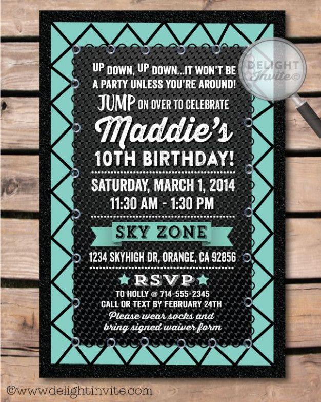 jump birthday invitation template