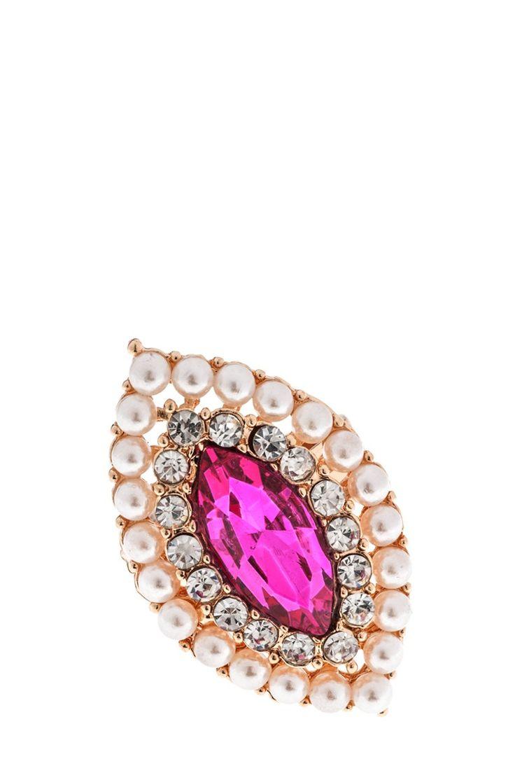 Δαχτυλίδι με ροζ πέτρα €2,50