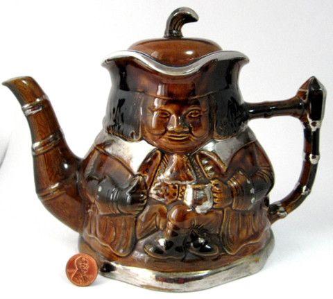 Vintage Toby Character Jug Teapot Cross Legs England Price Kensington 1930s