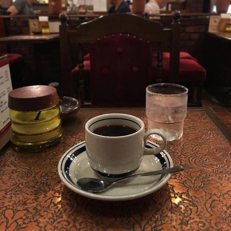 ブレンドコーヒー オーダーして30秒で出ました普通ですww #珈琲タイムス #時効警察 #ロケ地 #喫茶店 #カフェ #cafe  #新宿