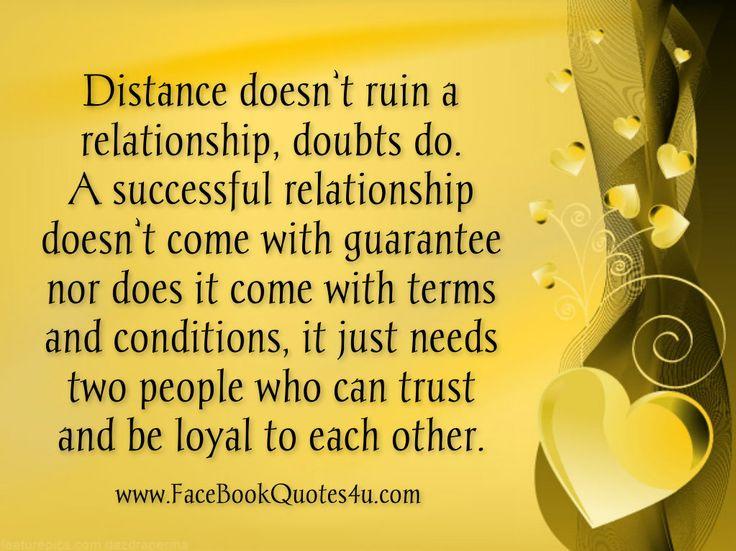 Distance essay long relationship