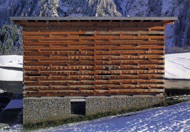 Gion Caminada - Sut Vitg, a slaughterhouse, butcher shop, and storage sheds, Vrin 2000. Scans via & via, photos © Christian Richters, Lucia Degonda. [[MORE]]