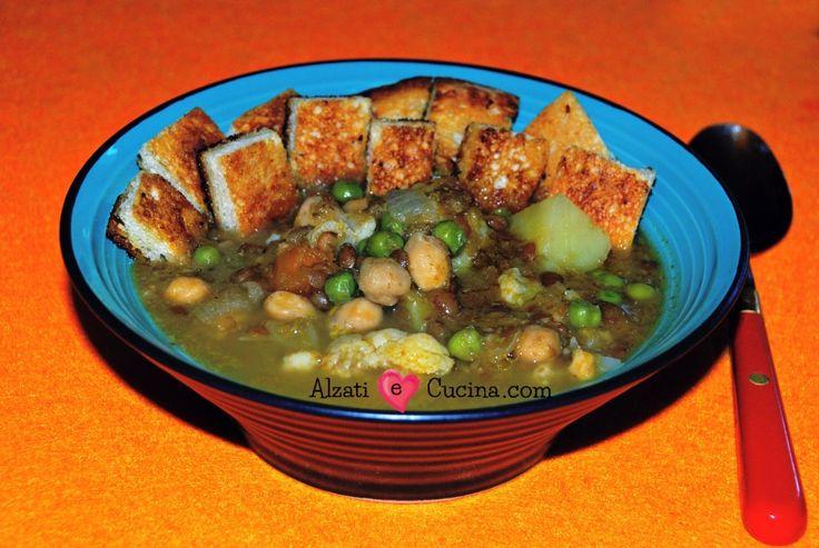 Zuppa di zucca e legumi