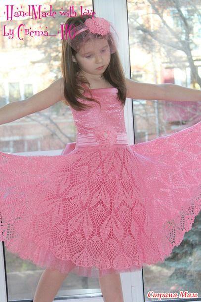 """Нарядное платье """"Первый бал"""" (уже готовимся к выпускному :)) - Вязание для детей - Страна Мам"""