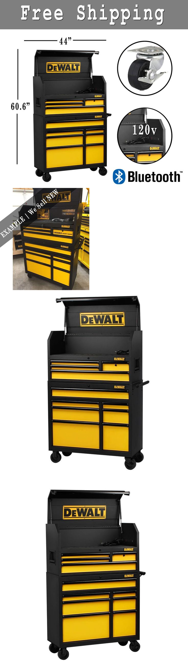 Boxes and Cabinets 42363: Dewalt Rolling Tool Box Steel Storage Drawer Rubber Cabinet Garage Wheel | New -> BUY IT NOW ONLY: $939 on eBay!